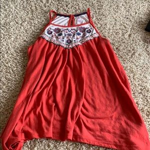 Beautiful Embroidered high neck tank top